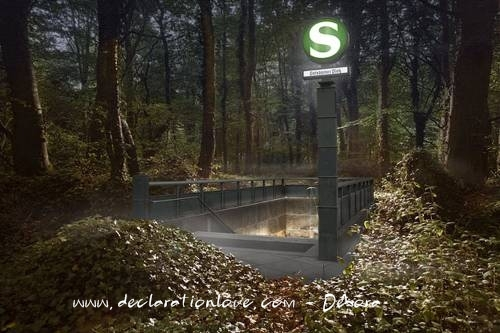 wooded subway stop